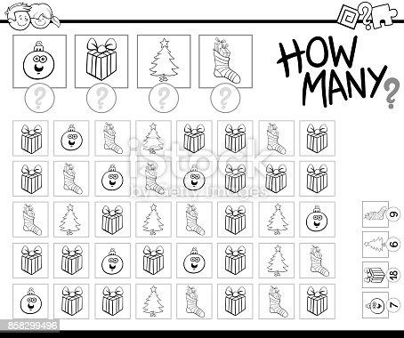 istock Supongo que el juego de cartoon Navidad artículos para niños ...