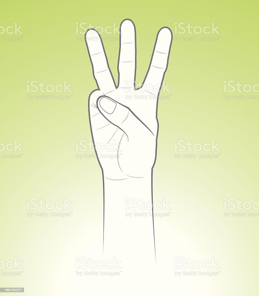 Counting Hand Three royalty-free stock vector art