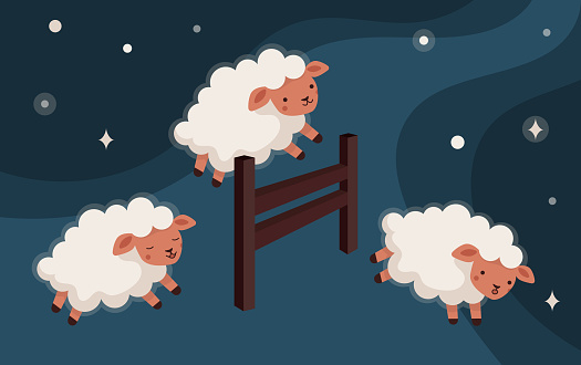 Counting of sheeps jump over the fence