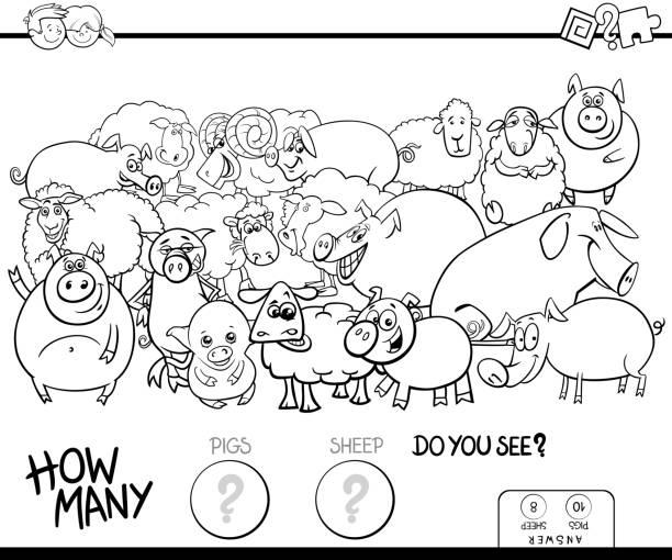 Vectores de Granja Dibujos Animados Divertidos Animales Domésticos ...