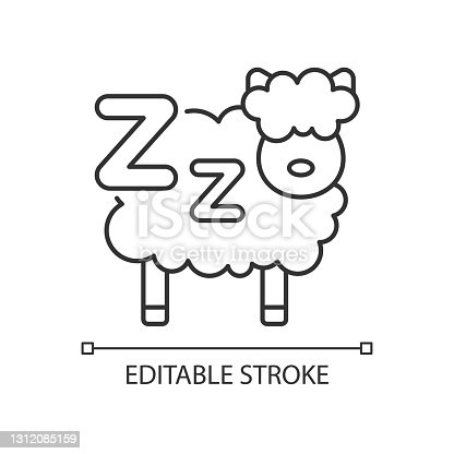 istock Counting sheeps linear icon 1312085159