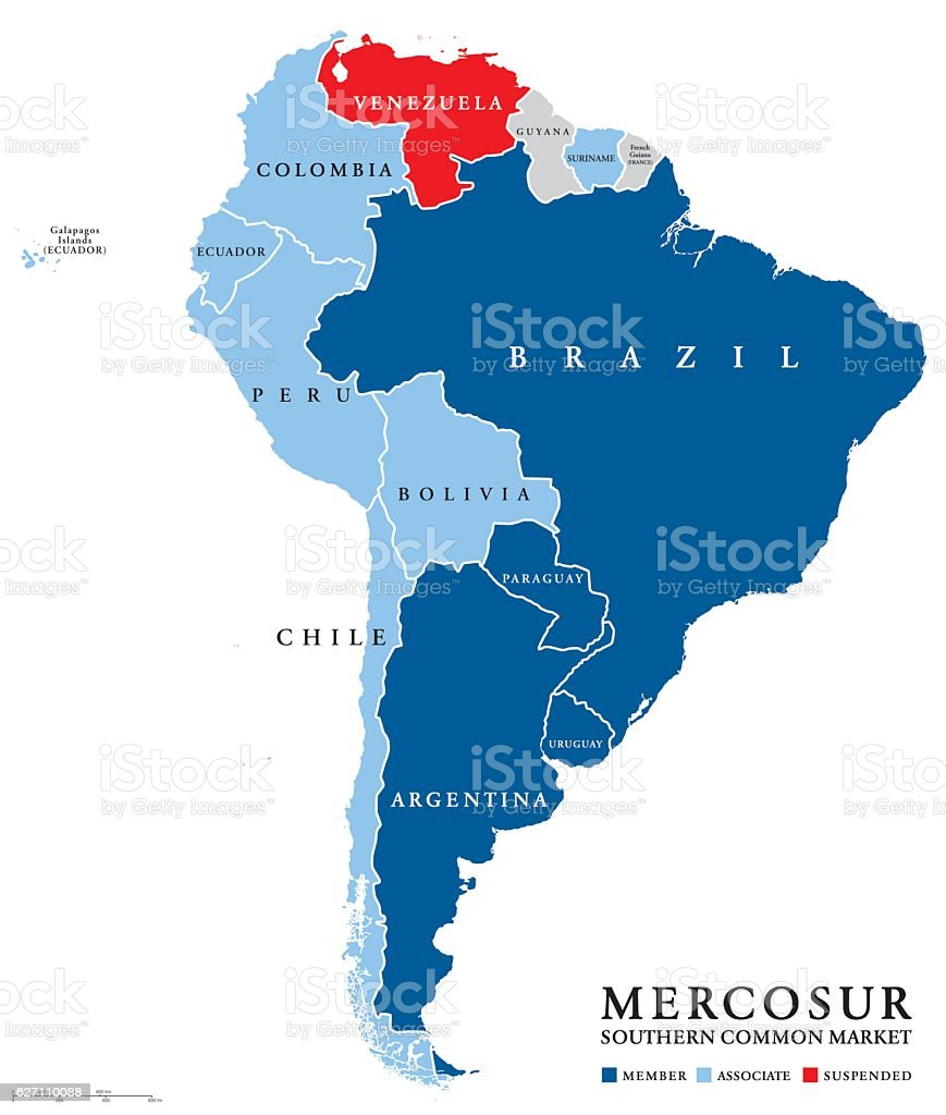 Mercosur countries map with suspended venezuela stock vector art mercosur countries map with suspended venezuela royalty free mercosur countries map with suspended venezuela stock gumiabroncs Gallery