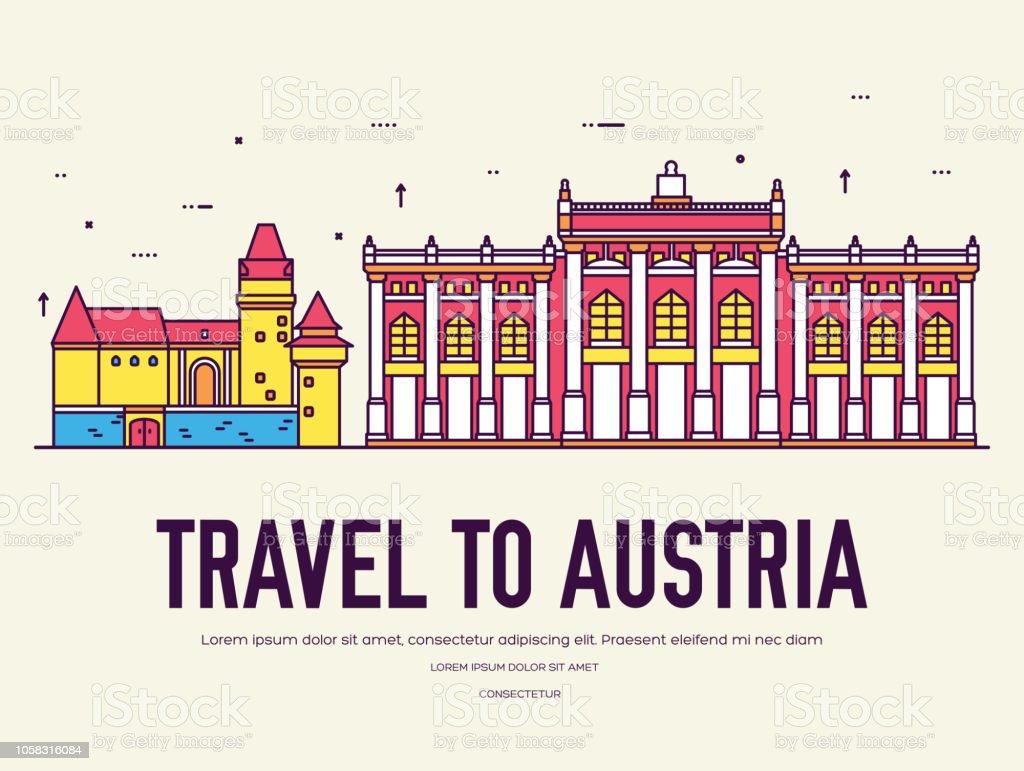 vacances autriche Pays Autriche voyages vacances du lieu et de fonctionnalité. Ensemble  du0027architecture, point