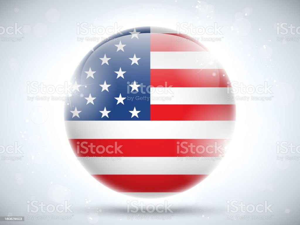 USA Country Bubble Icon royalty-free stock vector art