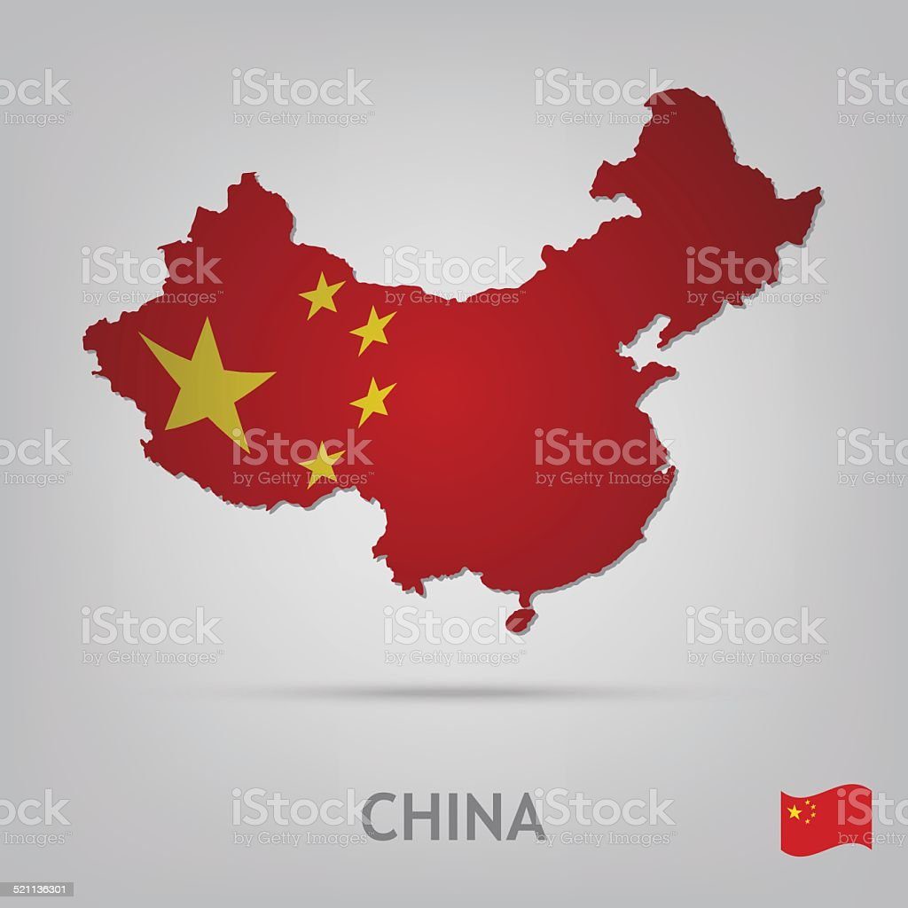 country china vector art illustration