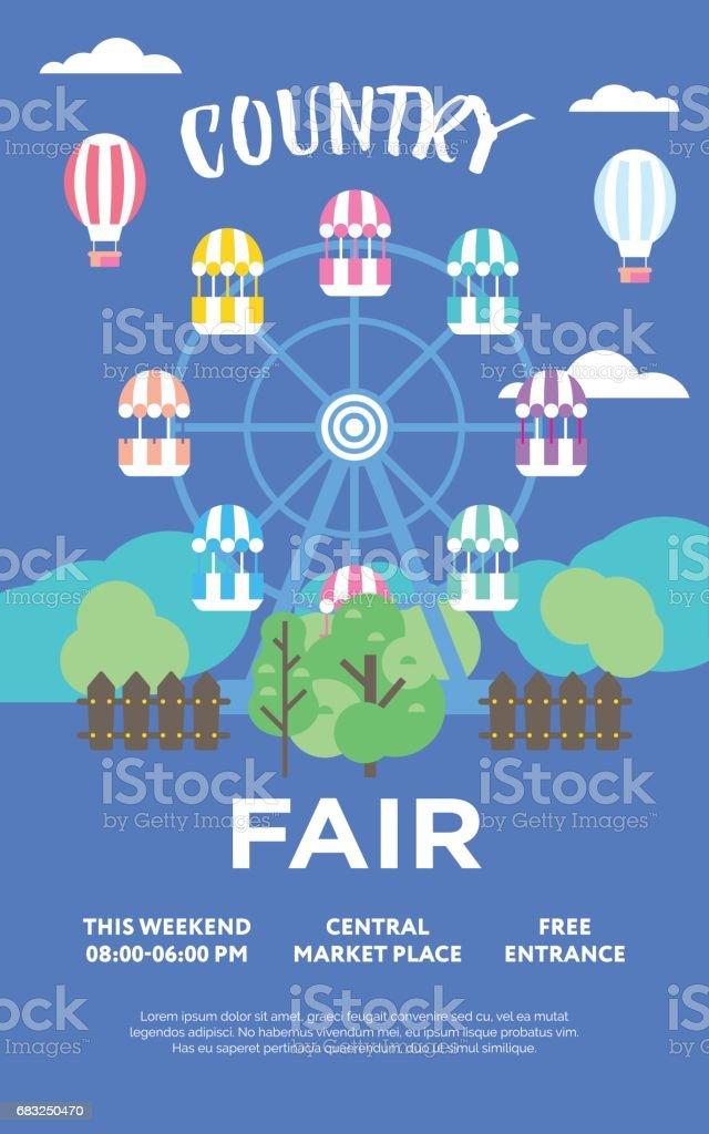 Country Fair country fair - arte vetorial de stock e mais imagens de antigo royalty-free