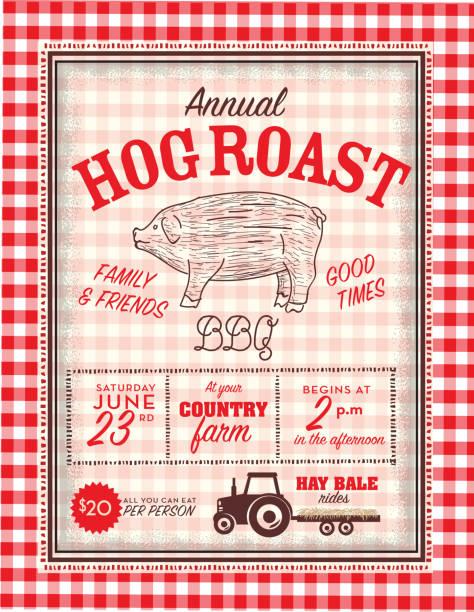 Royalty Free Pig Roast Clip Art Vector Images Illustrations Istock