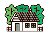Country House vector line icon. Files included: Vector EPS 10, HD JPEG 4000 x 3000 px