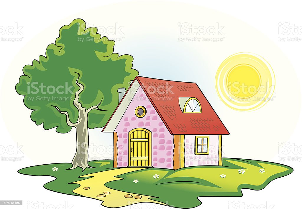 Country house vector illustration royalty-free country house vector illustration stock vector art & more images of architecture