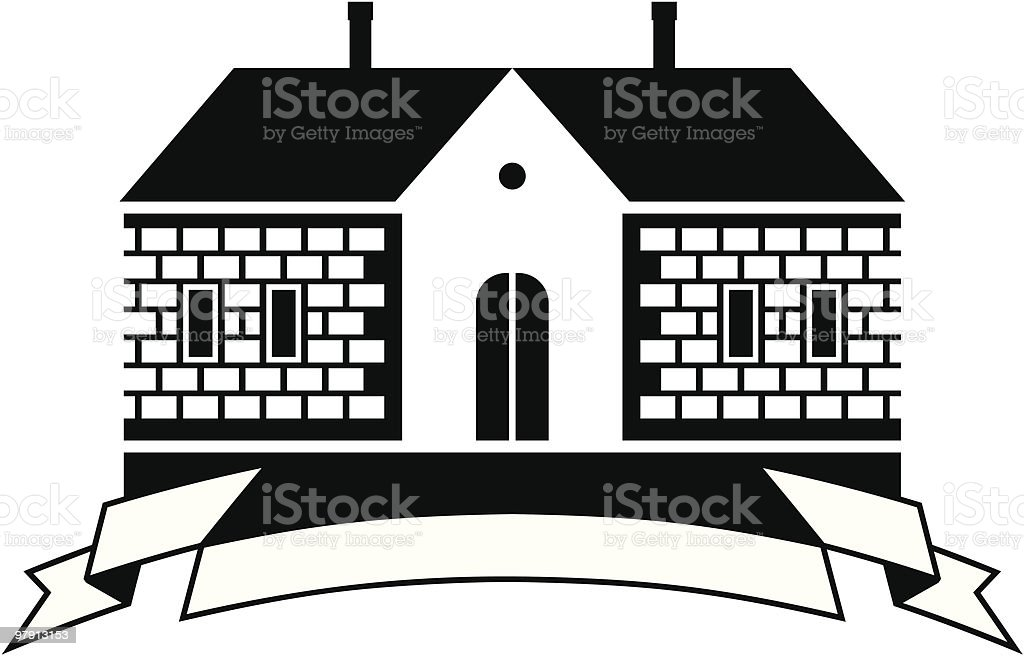Country house vector illustration royalty-free stock vector art
