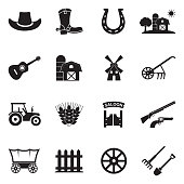 Country Icons. Black Flat Design. Vector Illustration.
