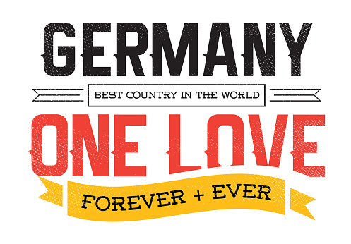 Country Inspiration Phrase for Poster or T-shirts. Creative Patriotic Quote. Fan Sport Merchandising. Memorabilia. Germany.