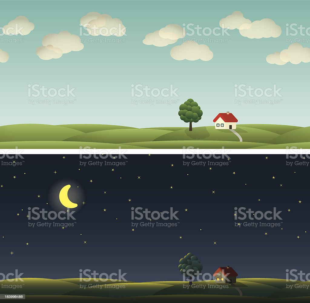 Country Paysage royalty-free stock vector art