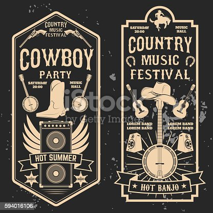 istock Country music festival flyer. 594016106