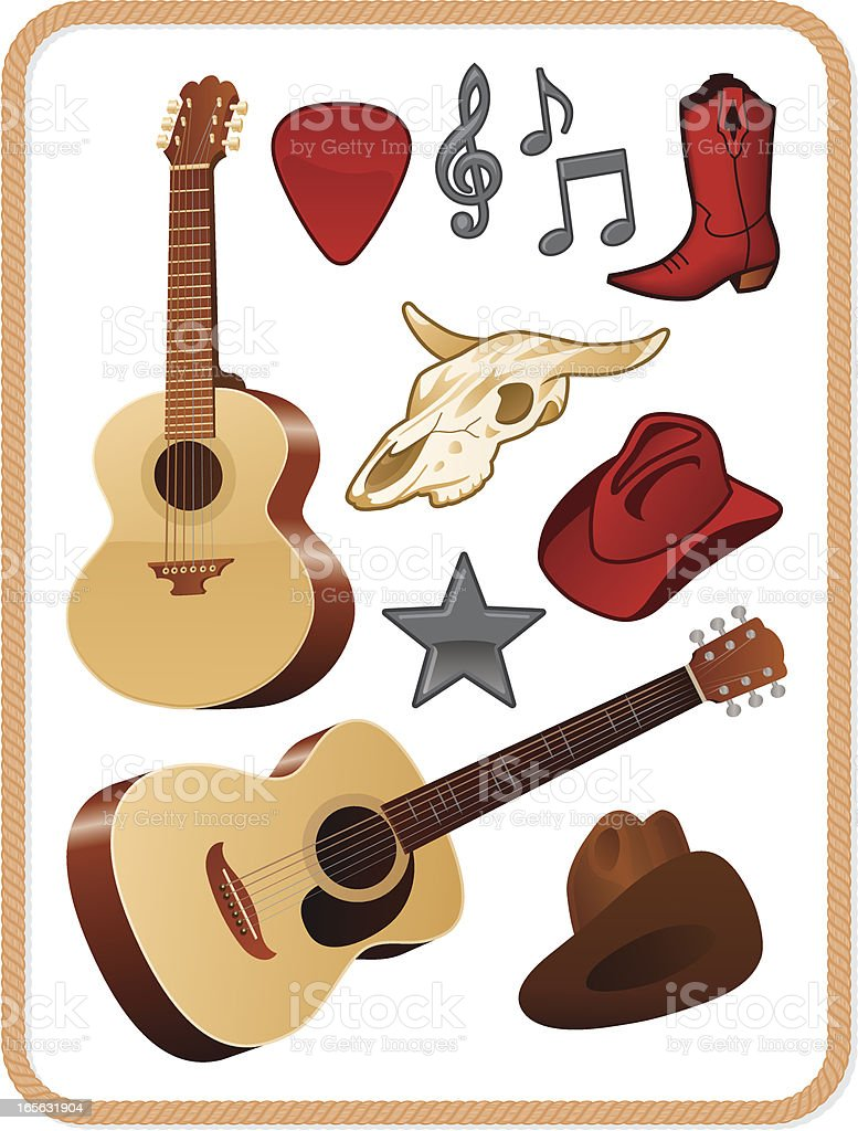Country Music Pack Stock Illustration - Download Image Now ...