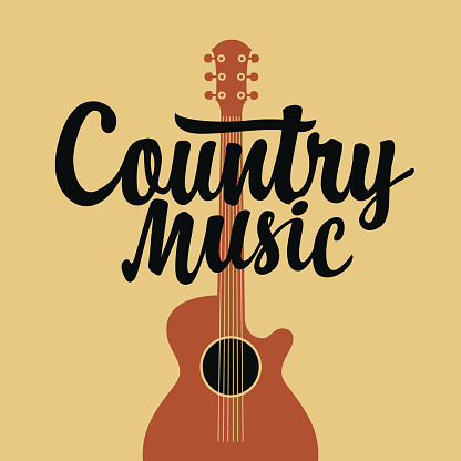 country music poster with an electric guitar
