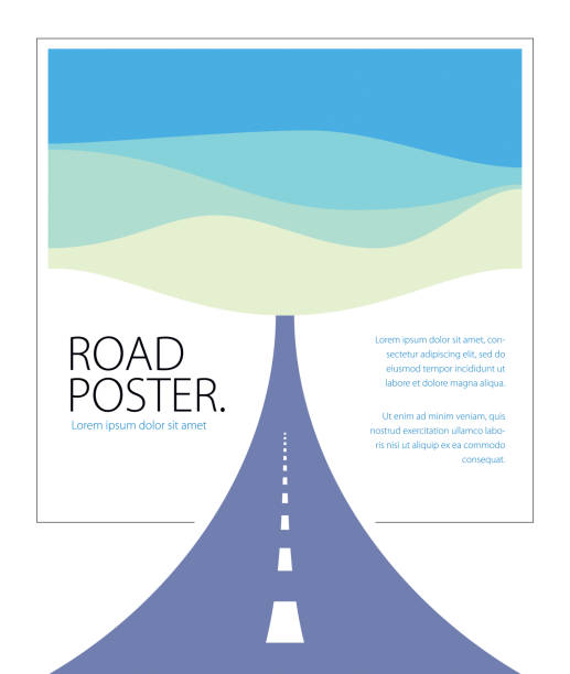 Country road curved highway vector perfect design illustration. The way to nature, hills and fields camping and travel theme. Can be used as a road banner or billboard with copy space for text. Country road curved highway vector perfect design illustration. The way to nature, hills and fields camping and travel theme. Can be used as a road banner or billboard with copy space for text. highway stock illustrations