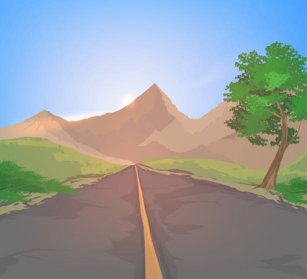 Best Road Side View Illustrations, Royalty-Free Vector ...