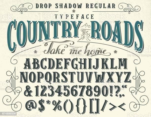 Country roads handcrafted retro typeface vector id674899336?b=1&k=6&m=674899336&s=612x612&h=38pabtvxzbb9ynsjdraexe4td x5ph111kwzjk8fgqg=