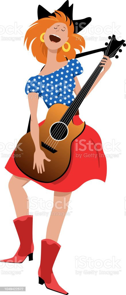 Country star vector art illustration