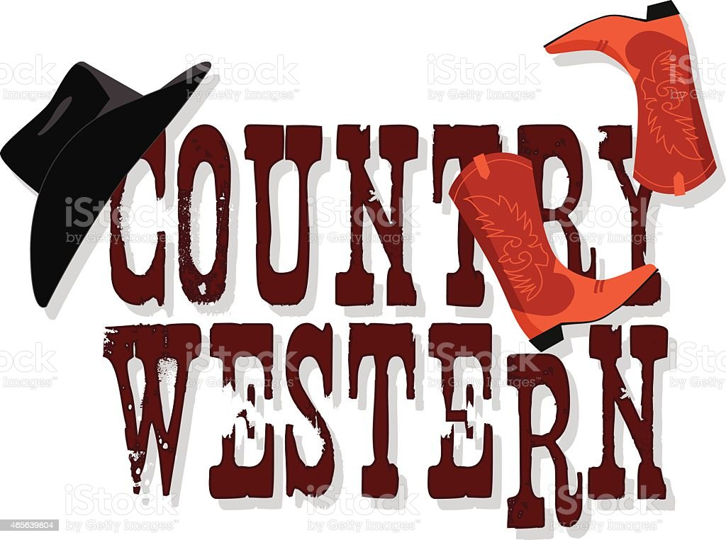 Country Western banner vector art illustration