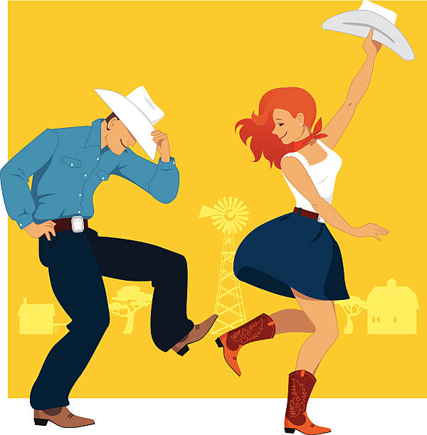 Country Western Dancing Clip Art, Vector Images & Illustrations ...