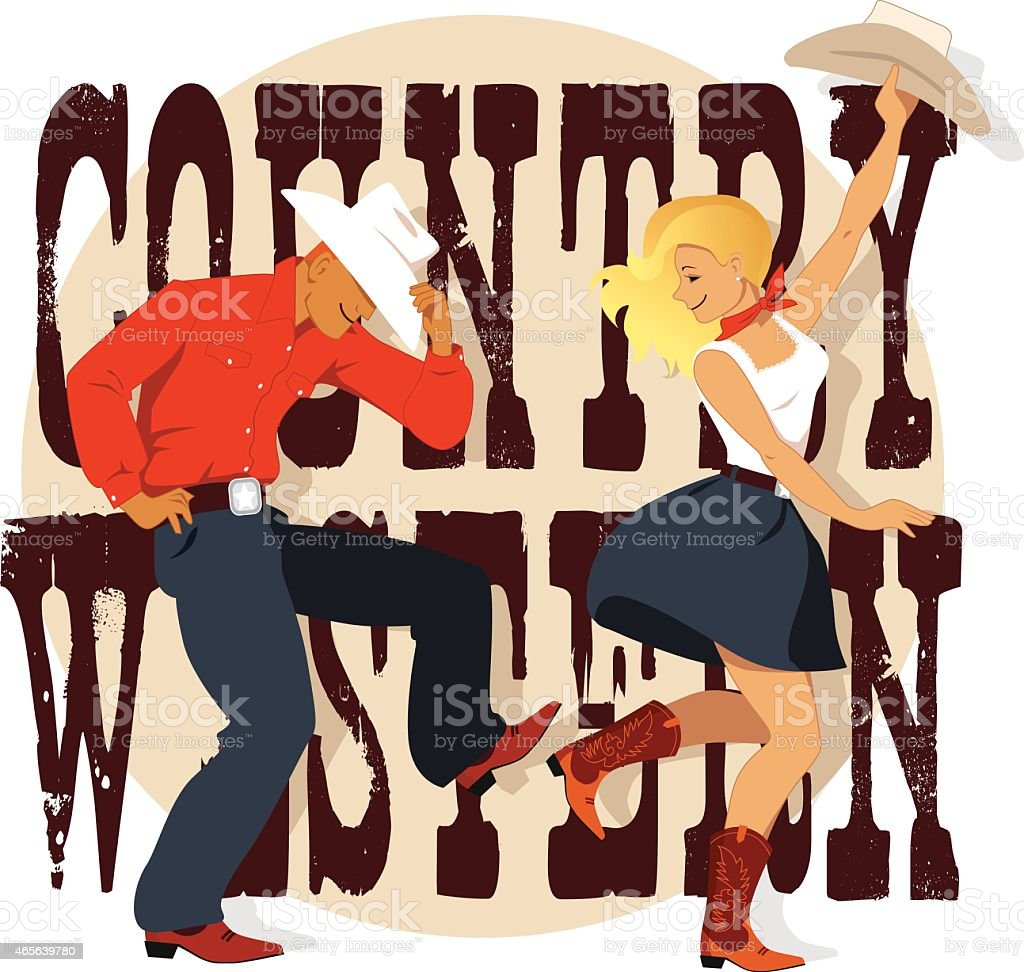 Country Western vector art illustration