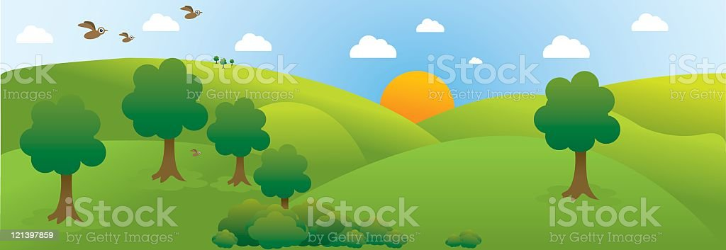 Countryside scene royalty-free stock vector art