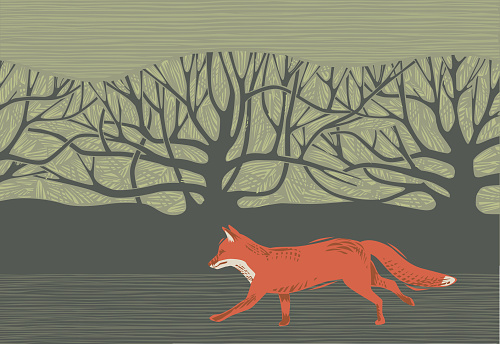 Countryside scene with Fox