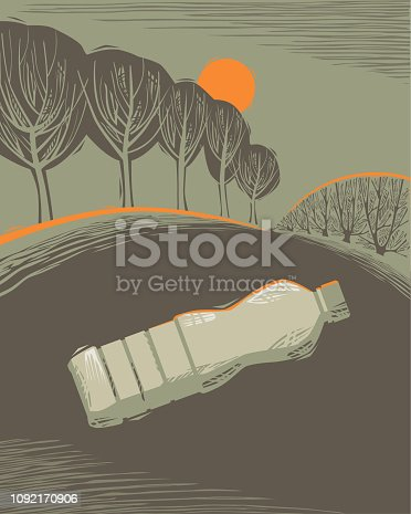 istock Countryside scene with Litter 1092170906