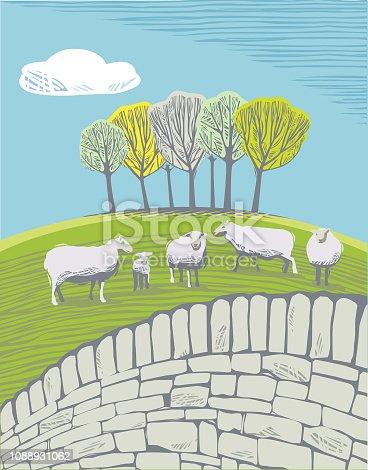 istock Countryside scene with Sheep 1088931062