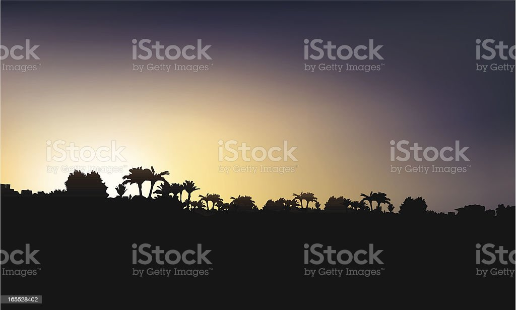 Countryside sunrise royalty-free stock vector art