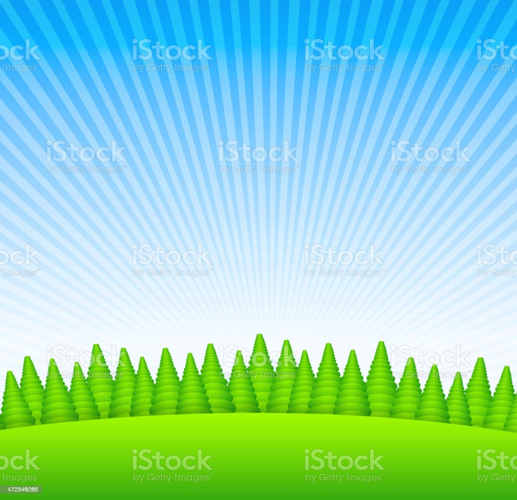Countryside sunrise royalty-free countryside sunrise stock vector art & more images of backdrop