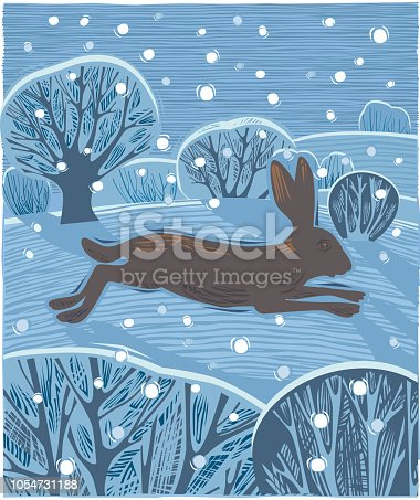 Countryside with Hare or Jackrabbit