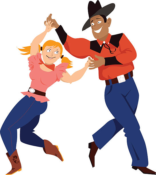 Royalty Free Country Western Dancing Clip Art, Vector Images ...