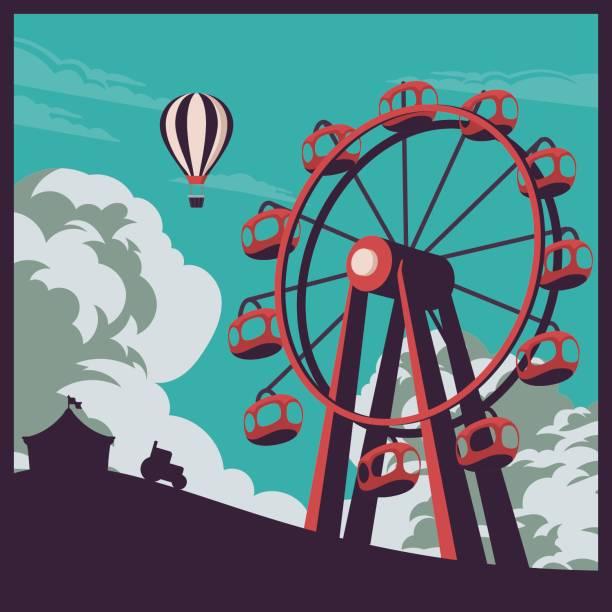 County Fair Vector illustration of a fair agricultural fair stock illustrations