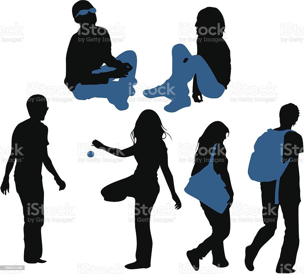 couple activities-vector vector art illustration