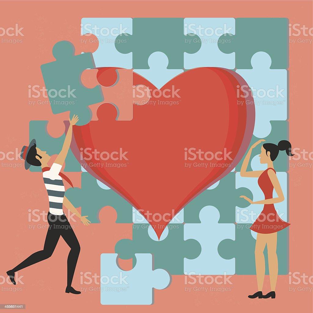 Pareja y el juego de amor ilustración de pareja y el juego de amor y más