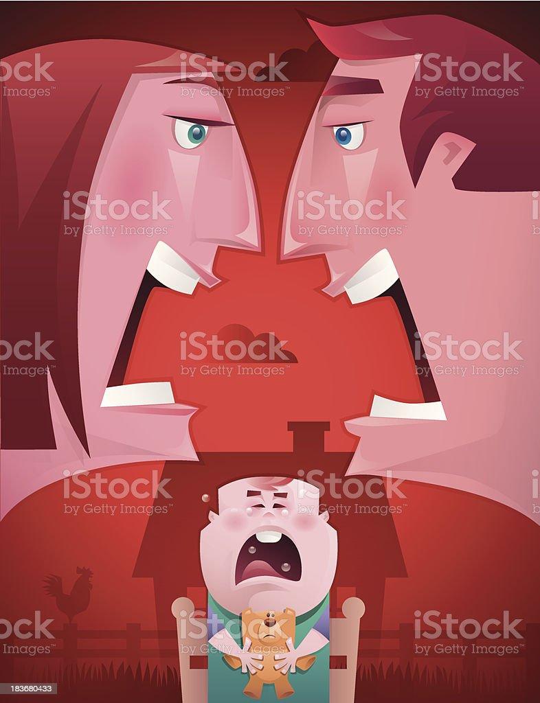 couple arguing vector art illustration