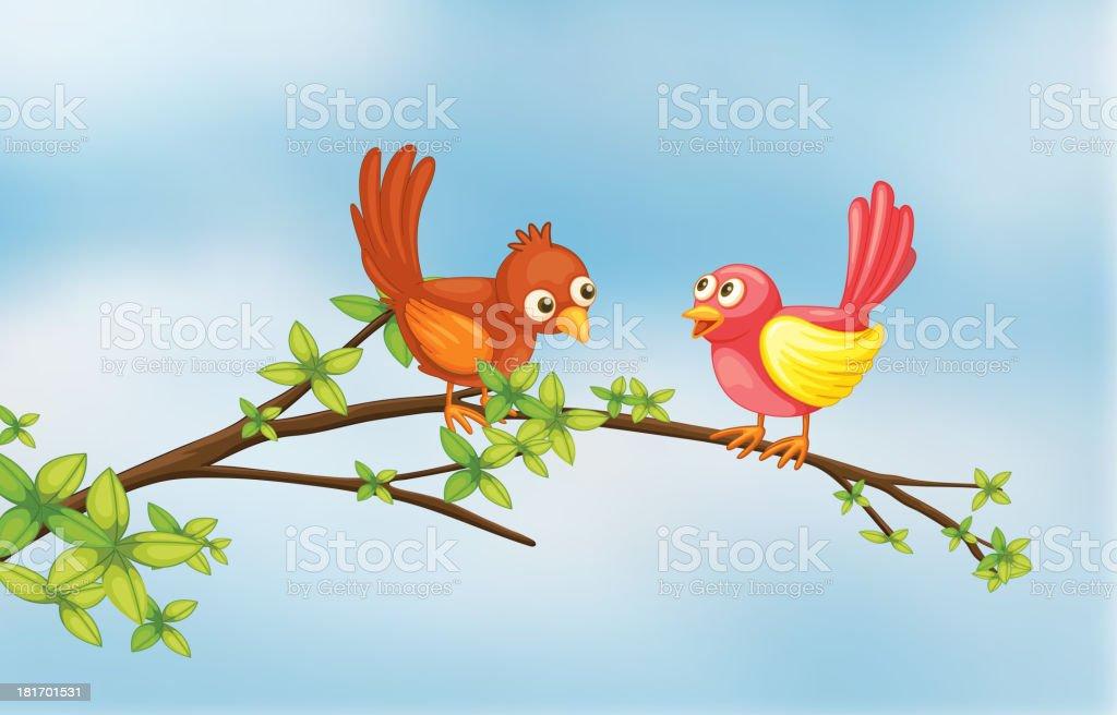 Couple bird royalty-free stock vector art