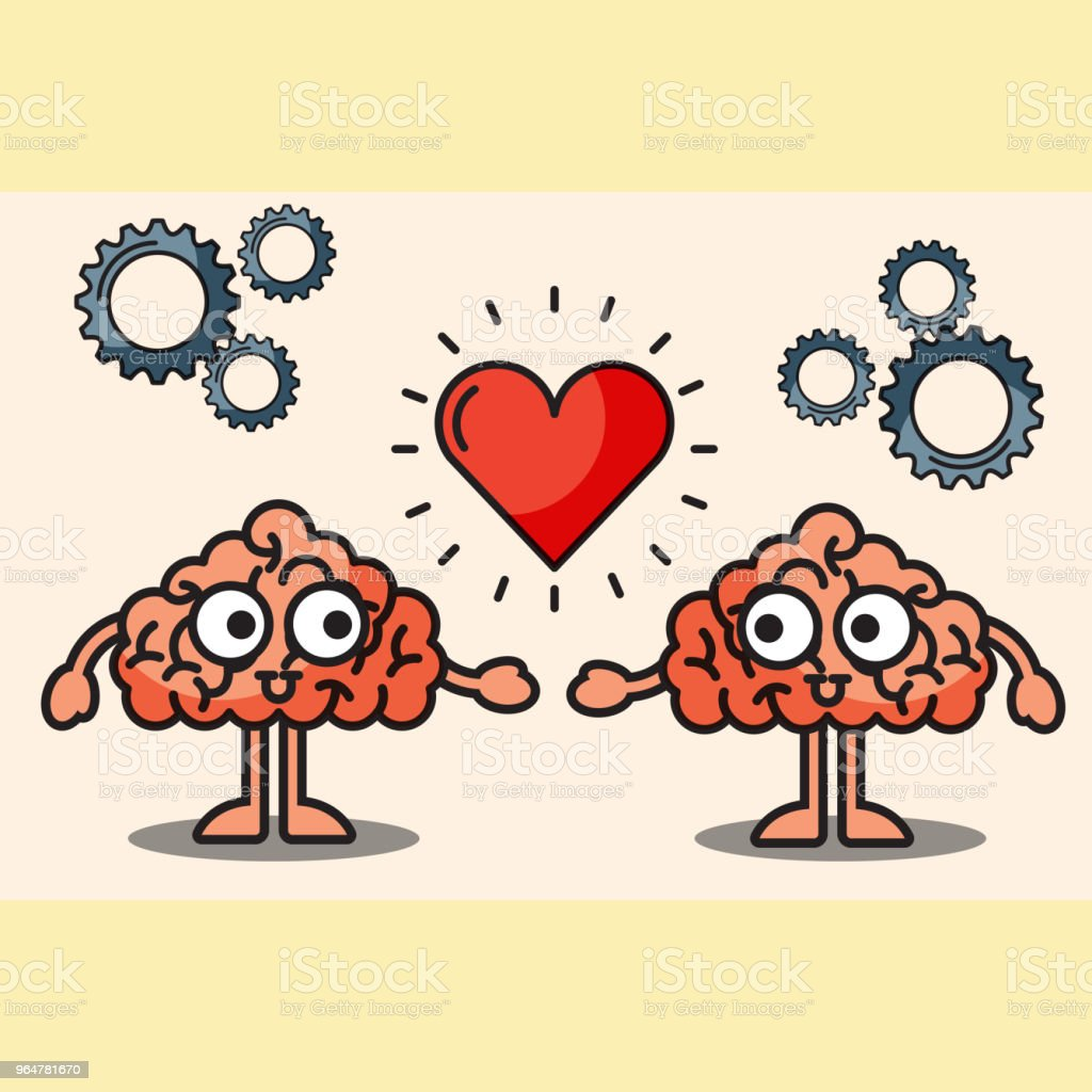 couple brains cartoon love heart royalty-free couple brains cartoon love heart stock vector art & more images of abstract