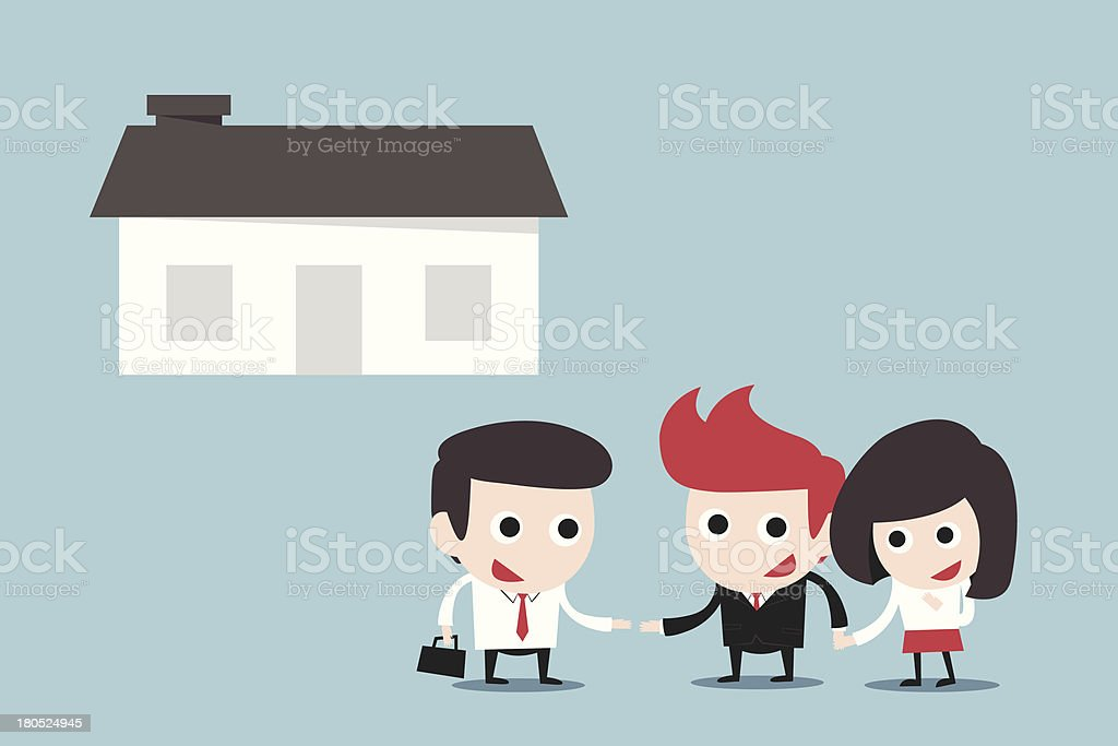 couple buying new home royalty-free stock vector art