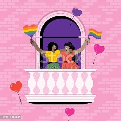Couple celebrating Pride