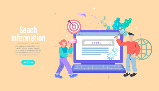 Couple chat on a cell phone. Girl communicates on the phone. Online chat man and woman. social network concept. Chat easily landing page website. illustration vector flat design.