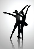 Couple Dancing Ballet