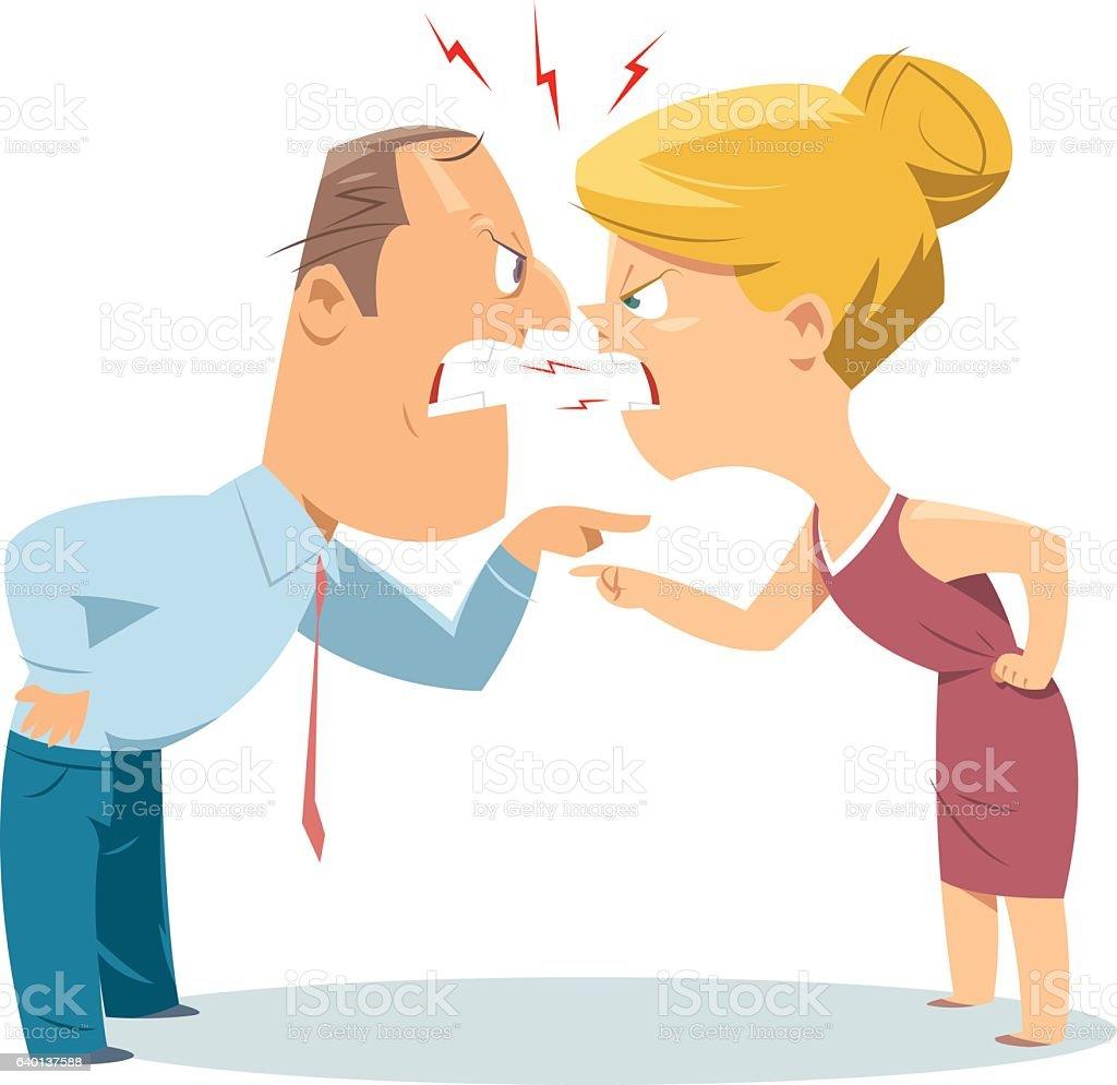 Casal de luta - ilustração de arte em vetor