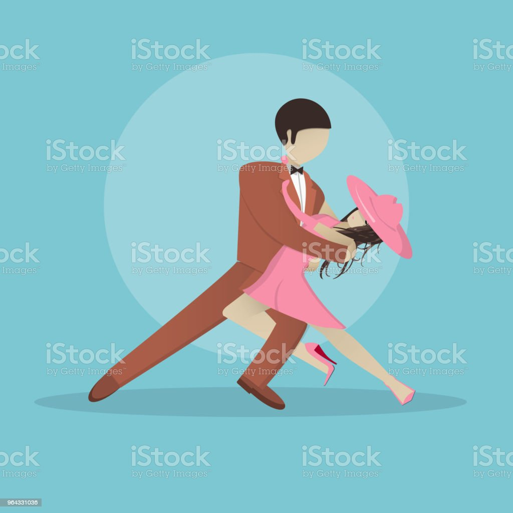 Couple Girl And Guy Dancing Tango Vector Stock Illustration