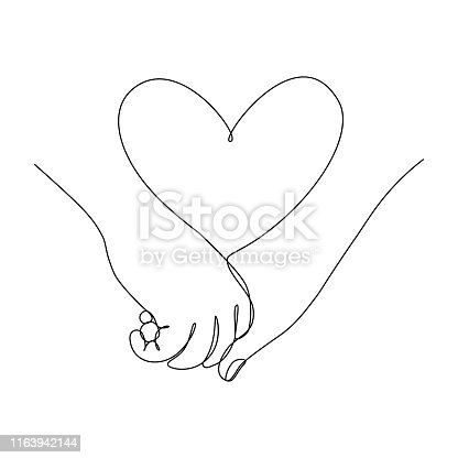 istock Couple hands together 1163942144