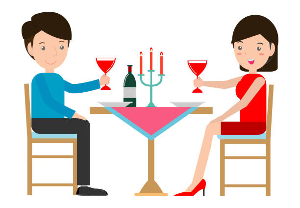 Best Candle Light Dinner Illustrations, Royalty-Free ...