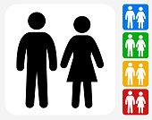 Couple Icon Flat Graphic Design